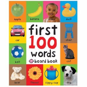 Bright Baby First 100 Words Board Book - Walmart.com