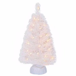 Holiday Time Pre-Lit 2' Noble Fir Artificial Christmas Tree, White, Clear Lights - Walmart.com