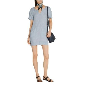 Ada linen-chambray mini dress | J Brand | US | THE OUTNET