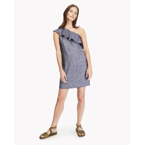 One-Shoulder Ruffle Dress 连衣裙