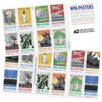 8* USPS New WPA Posters booklet of 20
