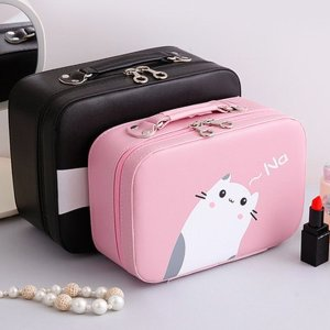 As Low as $21.24 Kitten Cosmetic Bag Cat Meow Makeup Case