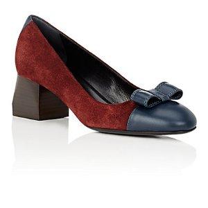 Lanvin 蝴蝶结方根鞋