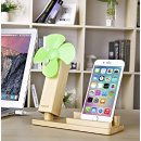 PASONOMI Wood iPhone Stand with USB Fan