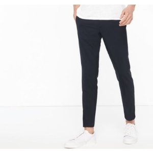 SMART TROUSERS WITH ELASTICATED WAIST