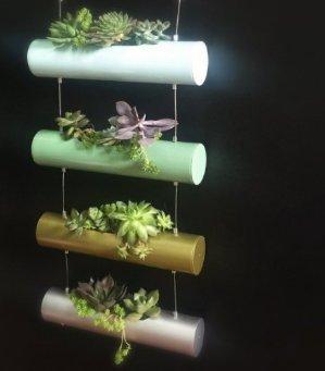 $11.99A6007 Four Season Vertical Zen Micro Garden Planter Succulent Cactus Small Plants Herbs Planting Cylinder System