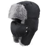 Prooral Unisex Winter Trooper Trapper Hat Hunting Hat Ushanka Ear Flap Chin Strap and Windproof Mask Nylon Russian Style Winter Ear Flap Hat for Men Women