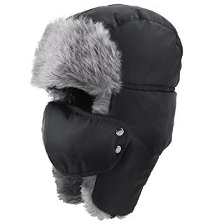 Prooral Unisex Winter Trooper Trapper Hat Hunting Hat Ushanka Ear Flap Chin Strap and Windproof Mask Nylon Russian Style Winter Ear Flap Hat for Men Women