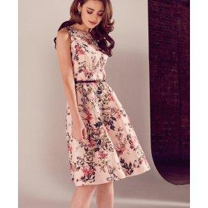 Blossom Jacquard full dress - Mid Pink | Dresses | Ted Baker
