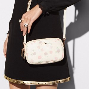 COACH: Crossbody Clutch In Daisy Field Print Pebble Leather