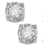 TruMiracle Diamond Stud Earrings (3/4 ct. t.w.) in 14k Gold