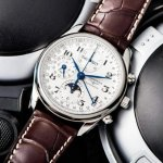 Longines Masters Automatic Chronograph White Dial Brown Leather Mens Watch L26734785