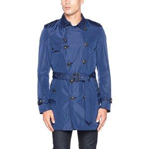 BURBERRY Kensigton Trench Mid, Manteau Homme, Blau (Ink Blue 46600), X-Small: Amazon.fr: Vêtements et accessoires