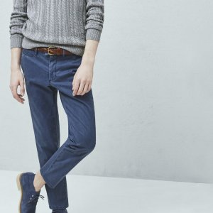 Slim-fit cotton chinos - Men | OUTLET USA