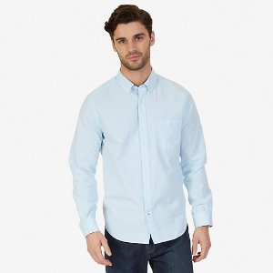 Classic Fit Solid Cotton Poplin Shirt