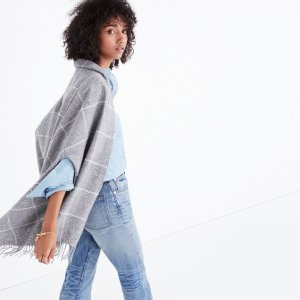 Micro-Check Cape Scarf @ Madewell