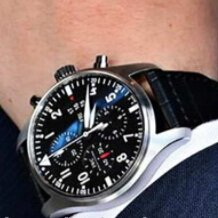 $3650EXTRA $300 OFF IWC Pilot Black Automatic Chronograph Men's Watch Item No. IW377709