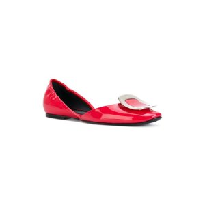 Chips Patent Leather Ballet Flat