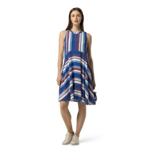 STRIPE FIT AND FLARE DRESS   Tommy Hilfiger