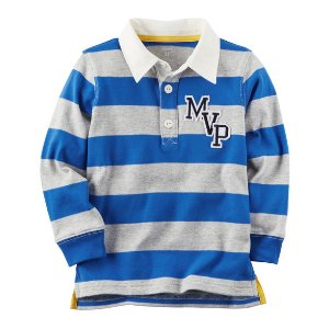 Long-Sleeve Rugby Striped Polo | Carters.com