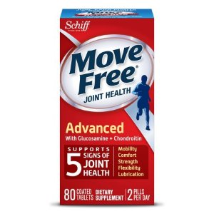 Move Free Advanced, 80 tablets - Joint Health Supplement with Glucosamine and Chondroitin - Walmart.com