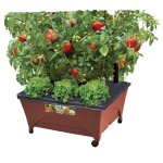 Patio Raised Garden Bed Grow Box Kit with Watering System