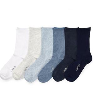 Roll-Top Trouser Sock 6-Pack - All Accessories � Women - RalphLauren.com