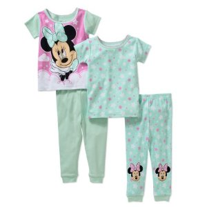 Minnie Baby Girl's Licensed Cotton 4-Piece Set - Walmart.com
