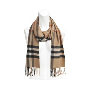Giant Icon Check cashmere scarf