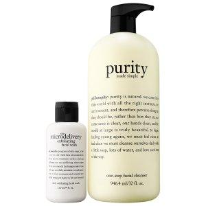 Purity Jumbo & Microdelivery Facial Wash Bundle - philosophy | Sephora