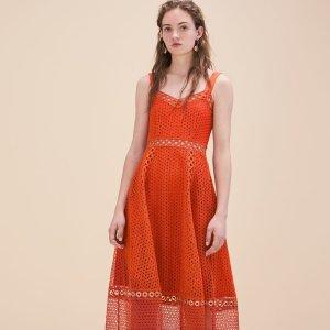 RITA Long embroidered strappy dress - Dresses - Maje.com