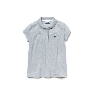 Kid's Lacoste Polo In Gathered Mini Piqué | LACOSTE