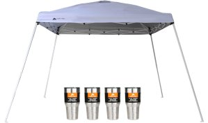 $40.58Ozark Trail 12x12 Slant Leg Canopy with 4 Tumblers Value Bundle