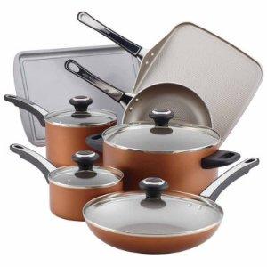 Farberware 17-pc. Aluminum Cookware Set 21955, Champagne