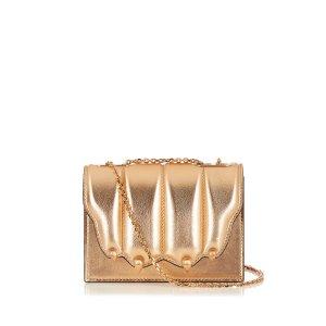 Paw-effect leather cross-body bag | Marco De Vincenzo