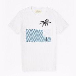 Wavey Palm Printed T-Shirt
