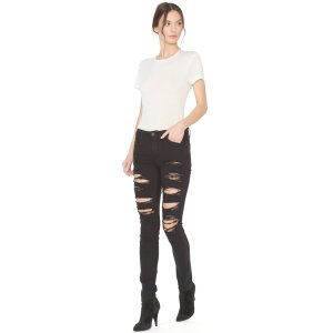 Jane Distressed 5 Pocket Skinny Jean