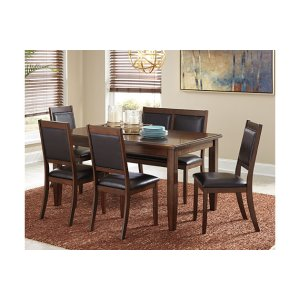 Meredy Dining Room Table and Chairs with Bench (Set of 6) | Ashley Furniture HomeStore