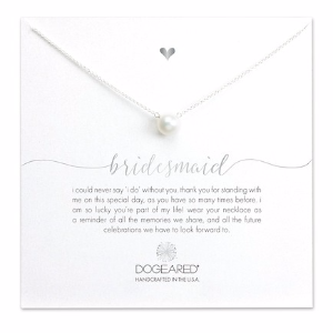 Sterling Silver 8mm Freshwater Pearl Bridesmaid Necklace