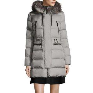 Aphrotiti Removable Fox Fur Puffer Coat