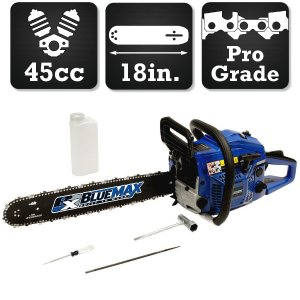 Blue Max 18 in. 45cc Heavy Duty Gas Chainsaw-6595 - The Home Depot