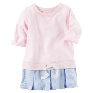 Toddler Girl Woven Hem French Terry Tunic | Carters.com