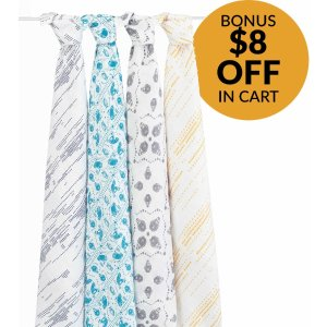 Aden + Anais Classic Swaddle Wrap 4 Pack - Kindred