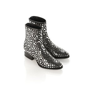 STUDDED ANOUCK BOOT WITH RHODIUM | BOOTS