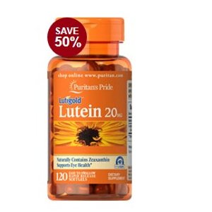 Lutein 20 mg with Zeaxanthin 120 Softgels | Semi-Annual Sale Supplements | Puritan's Pride