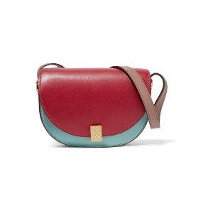Half Moon Box nano leather shoulder bag