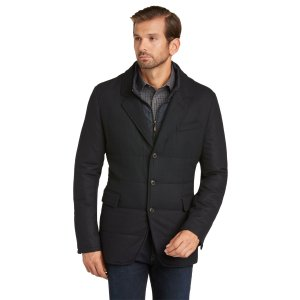 1905 Tailored Fit Quilted Blazer - Big & Tall CLEARANCE - Outerwear   Jos A Bank