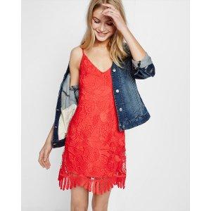 Crochet Lace Trapeze Dress