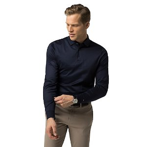 TAILORED COLLECTION SLIM FIT LONG-SLEEVE POLO