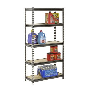 Muscle Rack 60 in. H x 30 in. W x 12 in. D 5 Shelf Z-Beam Boltless Steel Shelving Unit in Silver Vein-UR301260PB5P-SV - The Home Depot